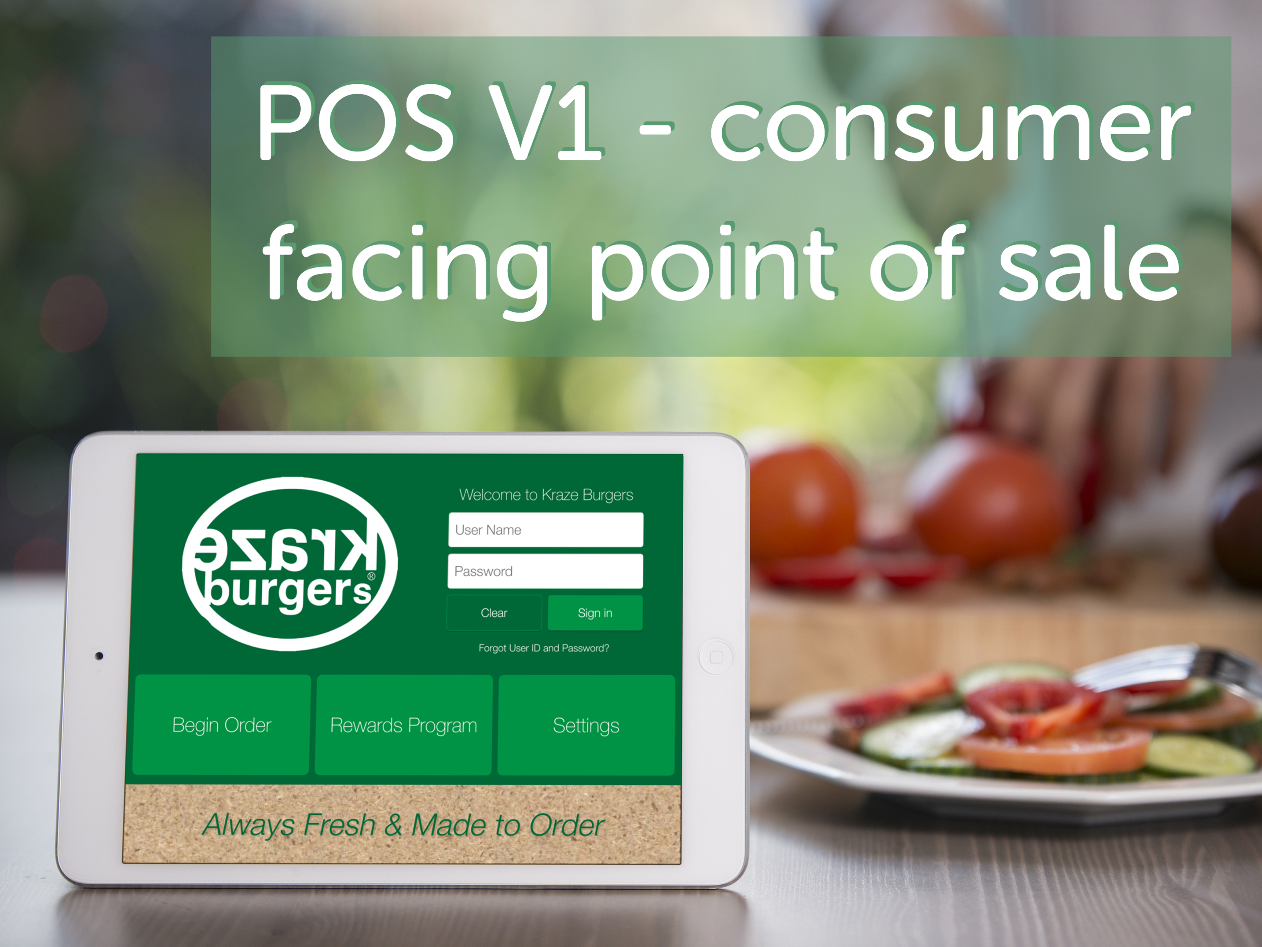 POS V1- a consumer facing point of sales iPad app