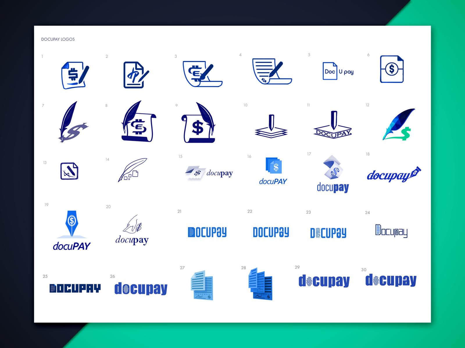 DocuPay and EMoney Golf Logos Designs